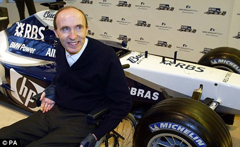 Excited: Williams principal Frank Williams is looking forward to watching Bruno race for his team