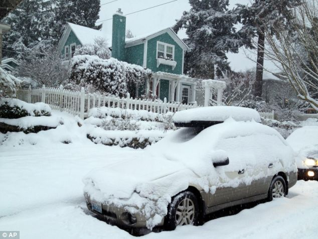 Snowed in: Snow blankets cars and homes in Tacoma, Washington