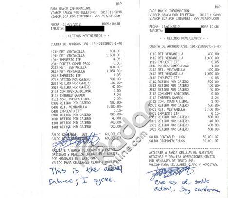 Legal bills: Van der Sloot attaches a receipt detailing his legal bills