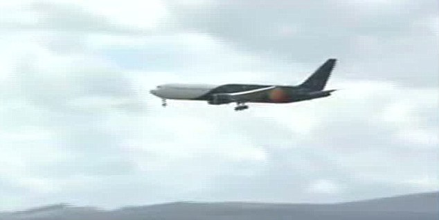 Controversial: Prince William arrives on the Falkland islands aboard a Titan Airways Boeing 767