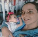 Ladonna Parlier, 26, was allegedly filmed injecting an 'unknown substance' into her daughter Naomi's intravenous tube
