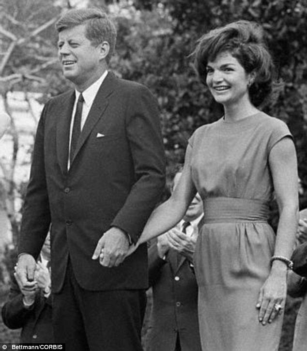 Personal stories: Mr Kennedy reached out to Miss Alford following the death of his infant son Patrick Bouvier Kennedy with his wife Jacqueline (pictured), whom he shared received letters of remorse with