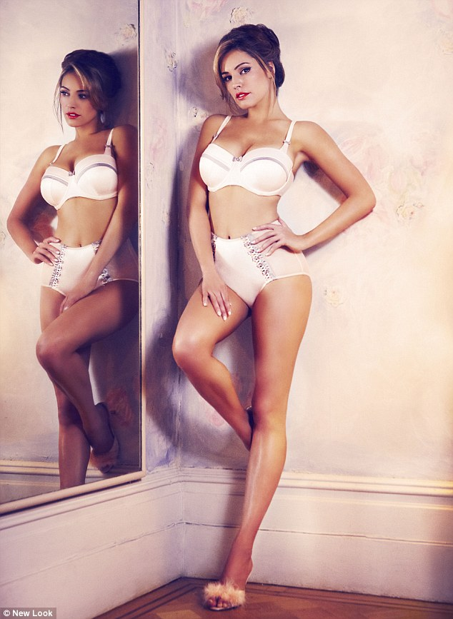 About her earlier New Look line, Kelly Brook said: 'Lingerie should flatter girls' curves, not try to minimise them'
