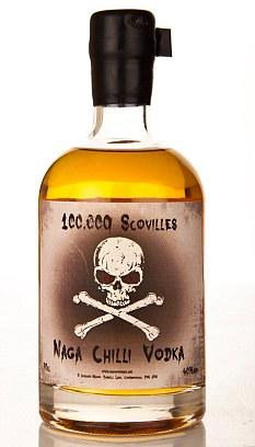Warning! The 100,000 Scovilles Naga Chilli Vodka is seriously hot
