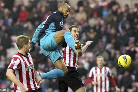 Thierry Henry vs Sunderland