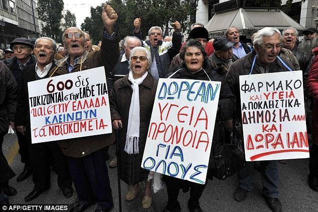 Ancianos de protesta: los pensionistas griegos salen a las calles de Atenas para protestar contra los recortes de austeridad esta semana