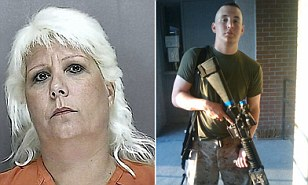 The mother of the Volusia County Marine was arrested