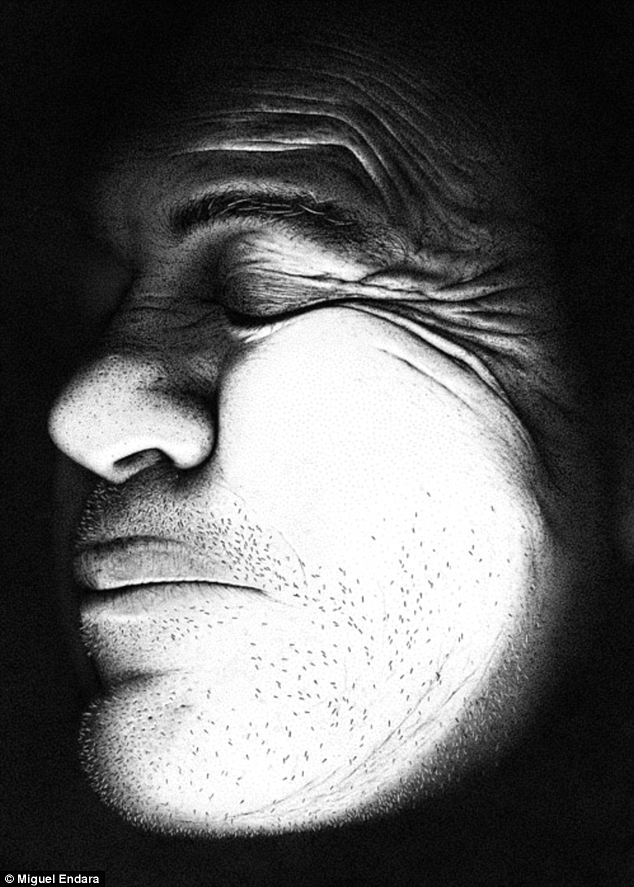 Realistic: Hero has been drawn with a staggering 3.2million dots