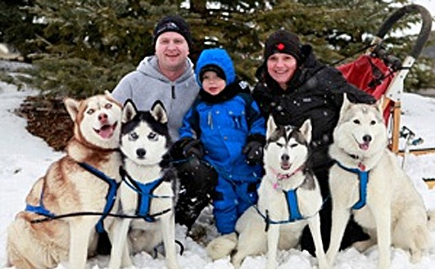 Tragic: A newborn baby boy has been mauled to death by a husky that was part of the family dogsled business
