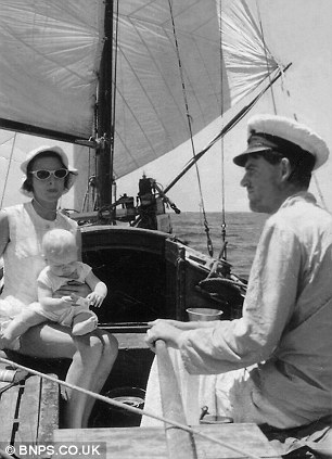 Bill and Laurel on board the Phoenix in 1954