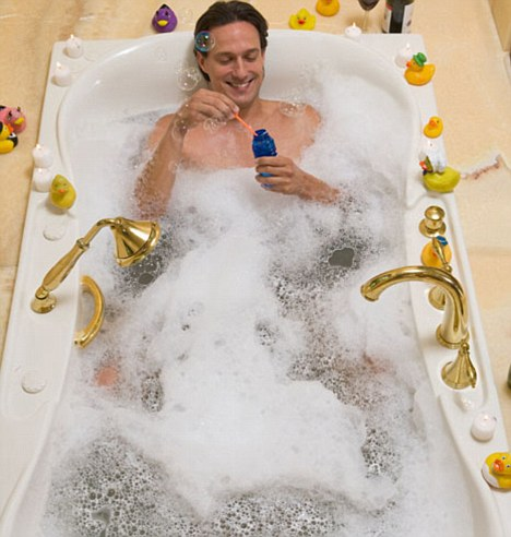 Rise and rise of the metrosexual: Men like to soak in the tub as much as women do