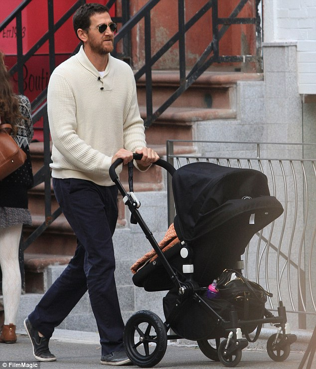 Father: Venture capitalist Adam Dell is seen in Manhattan, New York, with daughter Krishna in October 2010