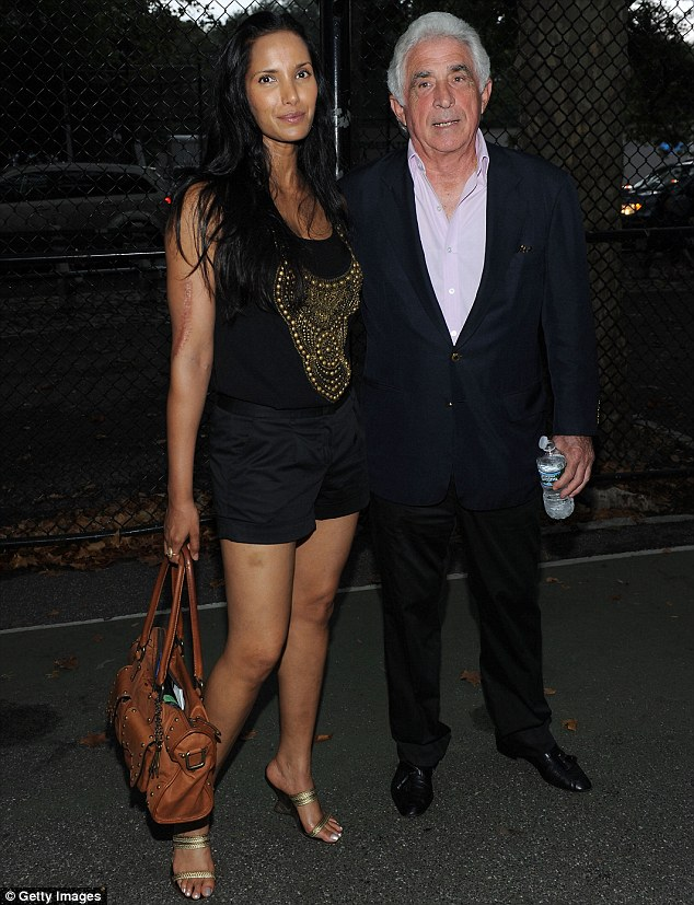Together: Television personality Padma Lakshmi and billionaire Ted Forstmann attend the Shanghai Symphony Orchestra & New York Philharmonic Concert in Central Park in July 2010 in New York City