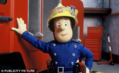 A pillar of the community: The popular Fireman Sam cartoon was created by David Jones who was accused of racism