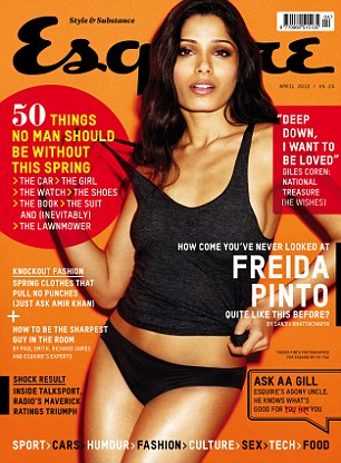 Read the full Freida Pinto interview in the April issue of Esquire - on sale Thursday 1 March