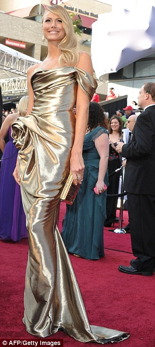 All that glitters: The former wrestler certainly looked at home on the red carpet