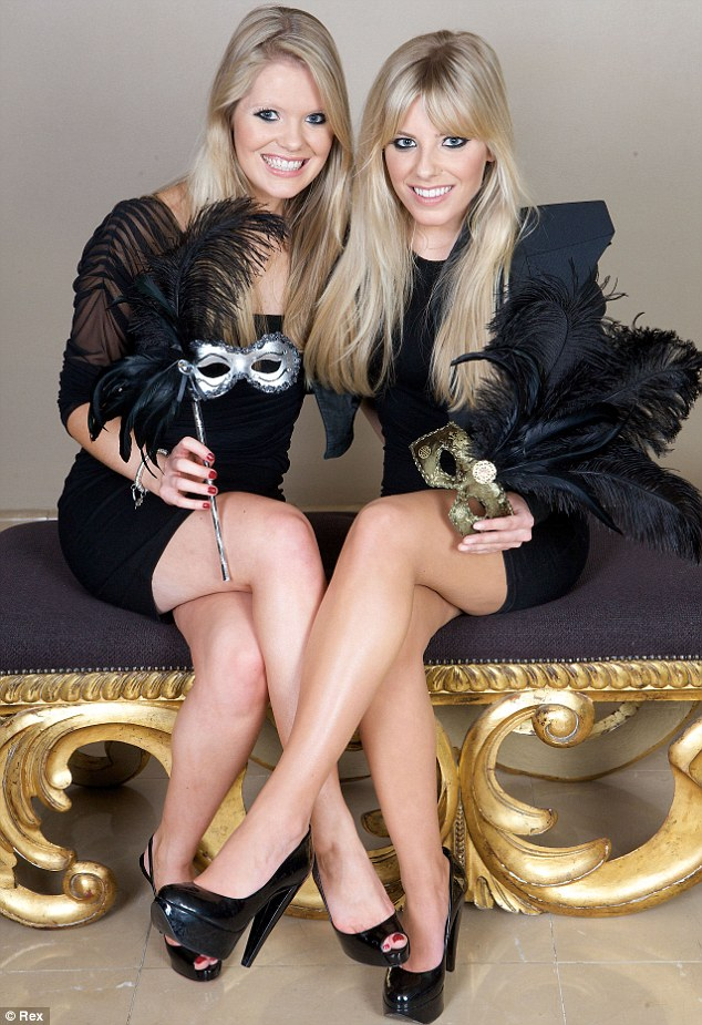 Blonde beauties: The Saturdays singer Mollie King with her incredibly similar looking sister Laura