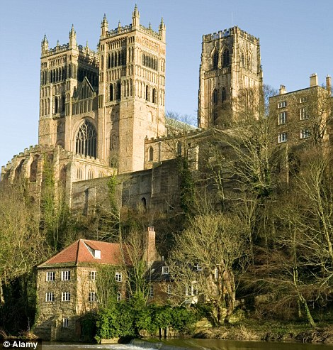 'Everything to the right of the viaduct is in fact Durham Cathedral. But the profile has been changed so that there are tall, pointy spires so there¿s plenty of theatrical exaggeration.'
