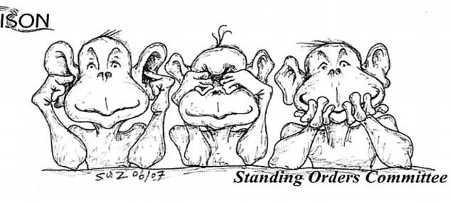 Image result for cartoon - failing leadership in denial