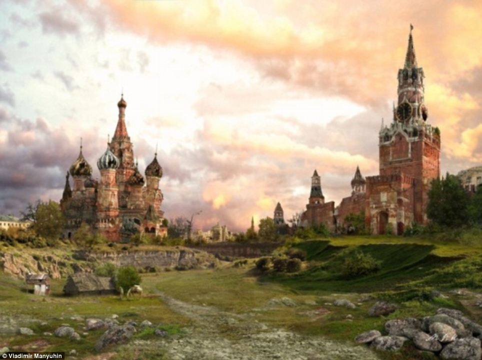 In a land far, far away: Manyuhin's photo manipulation imagines the Kremlin in the distant future