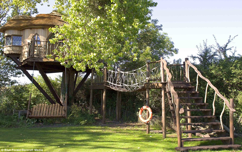 Sustainable: The tree house structures are usually made from sustainable wood from North America such as spruce and pine - and are then finished with cedar and oak