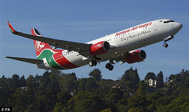 A Kenya Airways Boeing 737-800, similar to the one involved in the 2007 crash