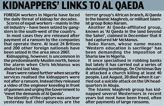 Kidnappers links to al qaeda.jpg
