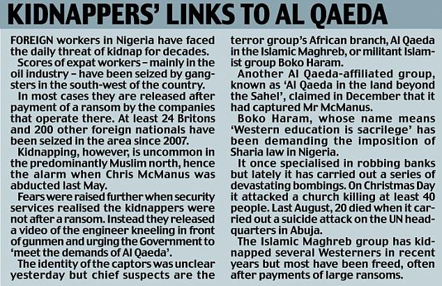 Secuestradores vínculos con Al qaeda.jpg