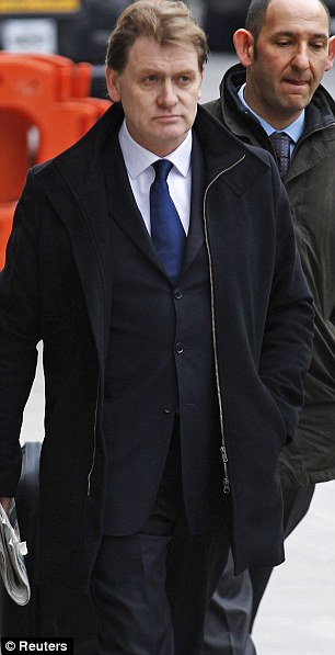Guilty plea: Labour MP Eric Joyce arrives at Westminster Magistrates Court yesterday