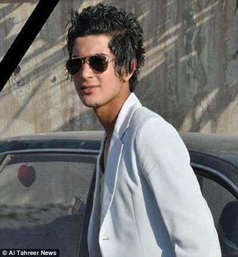 Iraqi activists said this unnamed teenager was brutally killed by religious police for having an 'emo' hairstyle