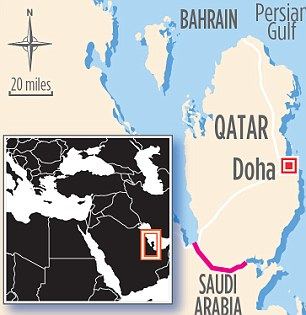 Locator map showing Doha, Qatar