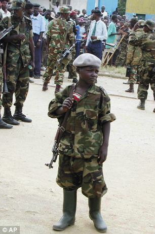 Aime Dieudonne, a young combatant with the rebel Union for Congolese Patriots