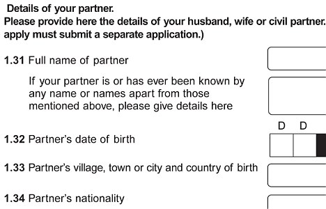 A thing of the past: UK border agency forms would replace the words husband and wife with spouses and partners