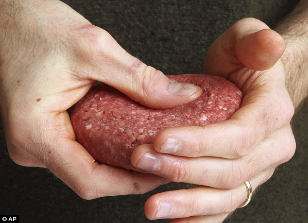 Comparing: Making two hamburgers of both types of meat, the journalist hoped to learn what the 'pink slime' does to the taste and texture of ground beef and how consumers can know when they're eating it