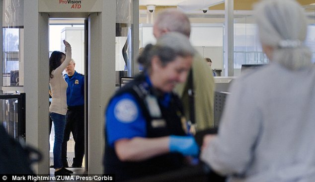 Easy pass: Passengers in the Precheck program will not have to go through full body scanners, and can instead pass through a standard metal detector