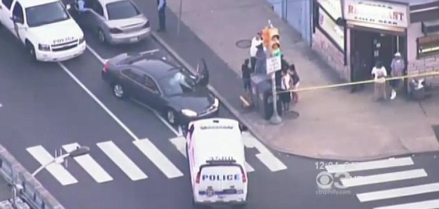 The shooting happened in Philadelphia in front of a crowd of about 100 people
