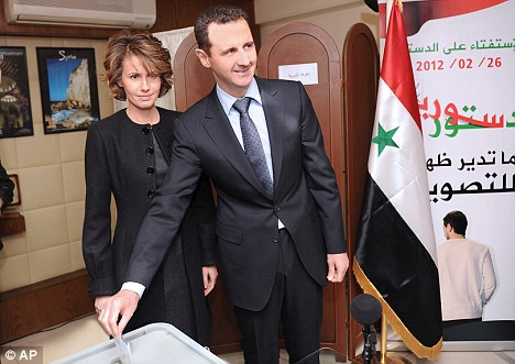 Those who fled Syria and President Bashar al-Assad's regime, (pictured) increased by over 50 per cent