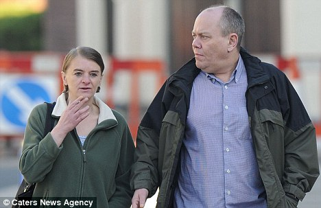 The high life: Colin Roberts, left, and Mandy Coghlan, right, told police that their £10,000 cannabis farm had been stolen