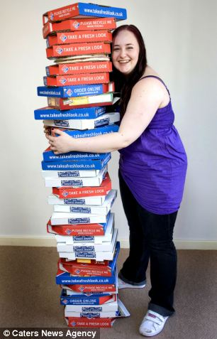 Sophie Ray, 19, risks health by eating nothing but Margherita pizza for EIGHT YEARS | Daily Mail Online