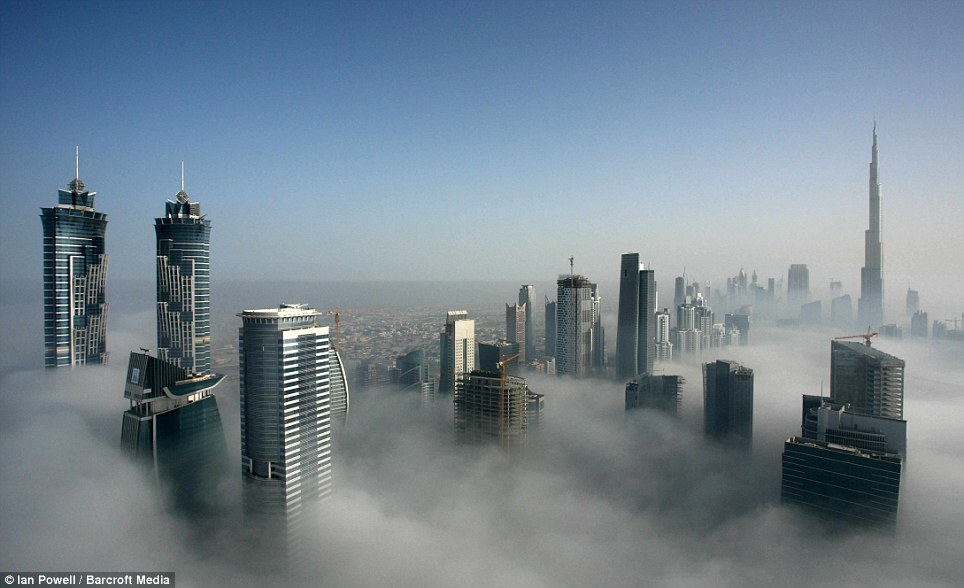 Image result for dubai skyscrapers in the clouds images