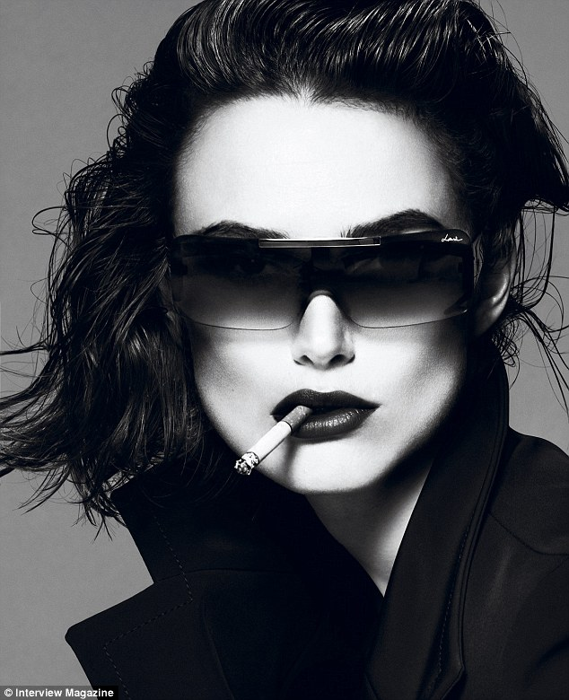 Iconic: Keira's cheekbones are instantly recognisable to the A-lister