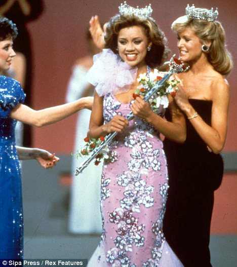 Making history: Vanessa was crowned Miss America, in 1983, she was the first black woman to win the title
