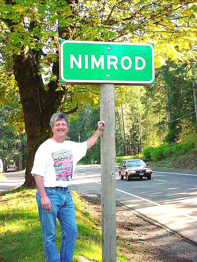 Nirmrod: The town's sign is bolted down to stop the repeated theft that kept on occuring