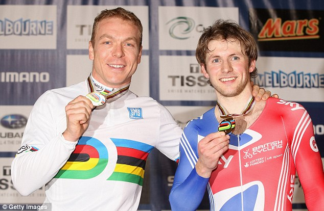 Best of British: Hoy and Kenny face a battle for the one place in the men's sprint at the Olympics