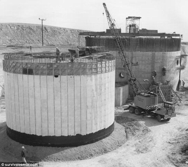 The silos as the were in the early 1960s: Developer Larry Hall is converting four of the 72 Atlas