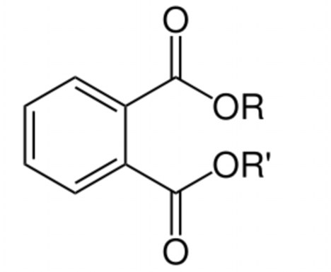 Phthalates crept into widespread use over the last several decades because of their beneficial chemical properties (picture shows the general chemical structure)