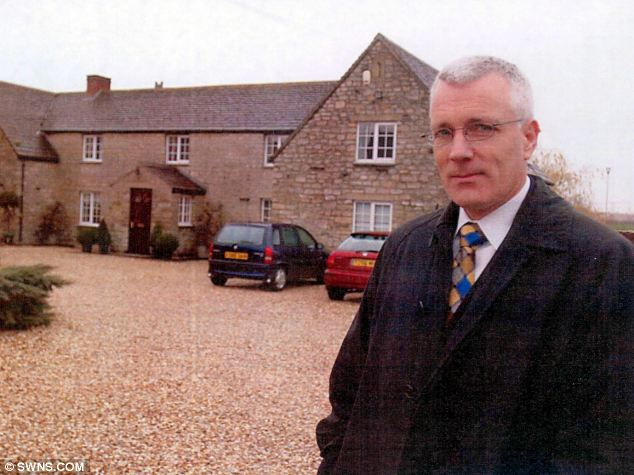 Under investigation: Dr George Hibbert, pictured outside the Family Assessment Centre near Blunsdon, Swindon