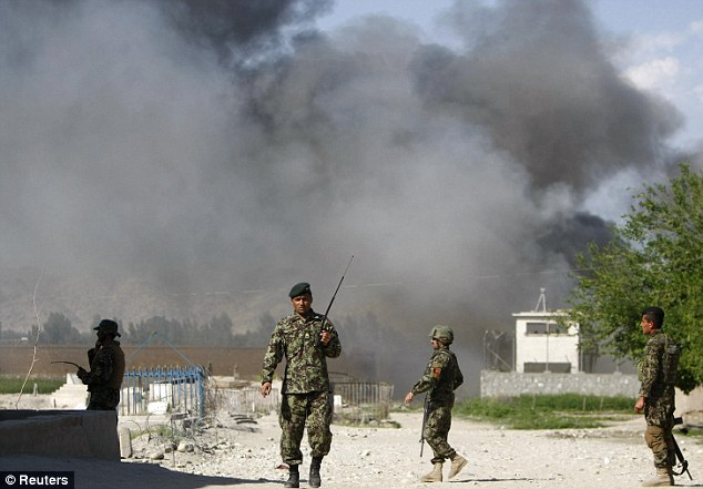 The attack near the Provincial Reconstruction Team (PRT) came on a day of co-ordinated attacks across Afghanistan