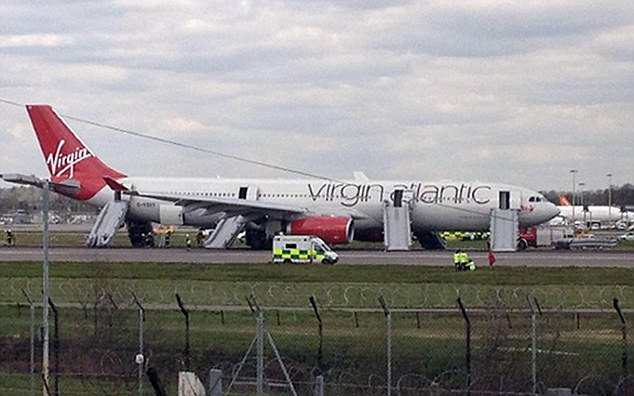 All Gatwick flights were suspended for around an hour and 40 minutes while the drama involving the plane, carrying 304 passengers, was being played out