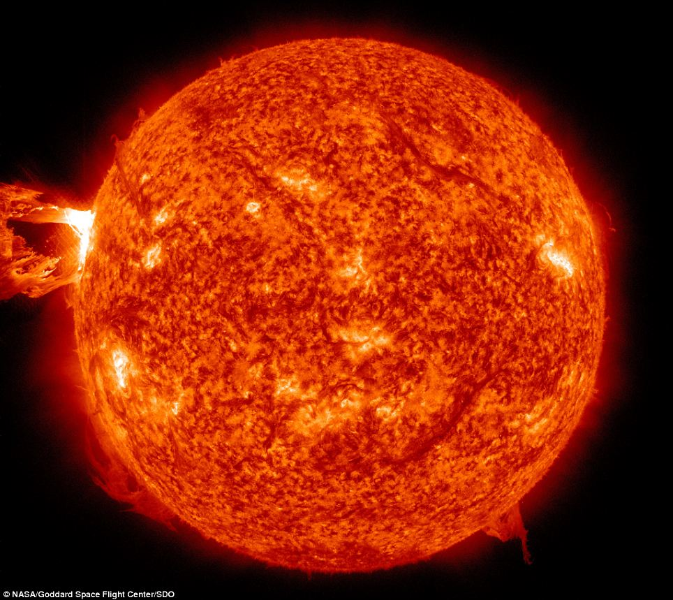Great balls of fire: These images were captured by Nasa's orbital Solar Dynamics Observatory